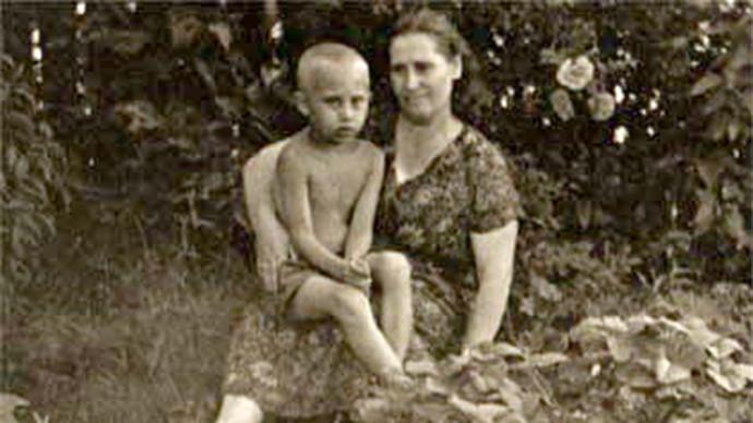 Vladimir Poutine avec sa mère