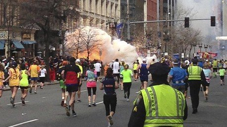 Explosion au moment des attentats de Boston