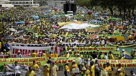 Des manifestants à Brasilia