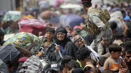 Civils fuyant Ramadi