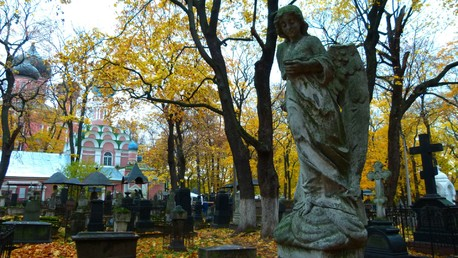 Le cimetière Donskoe à Moscou