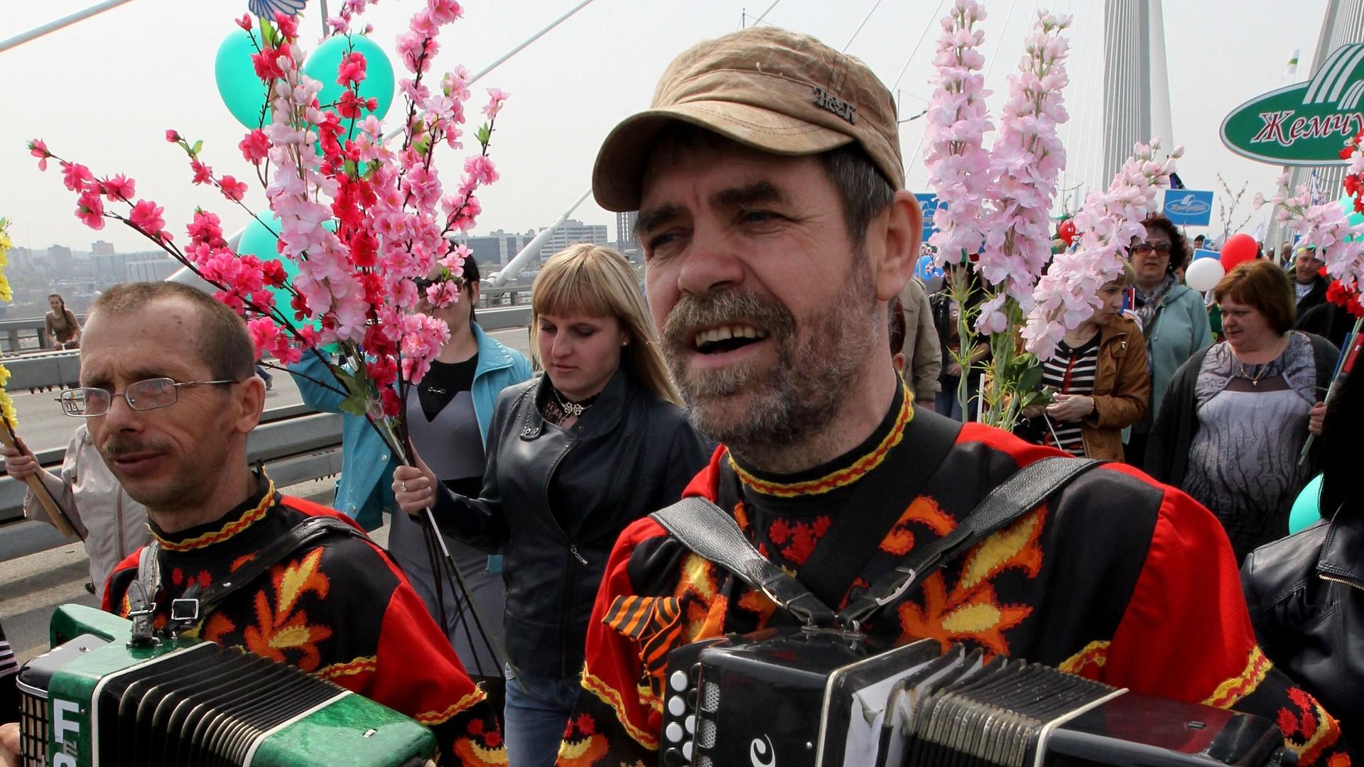 Le défilé du 1er mai à Vladivostok