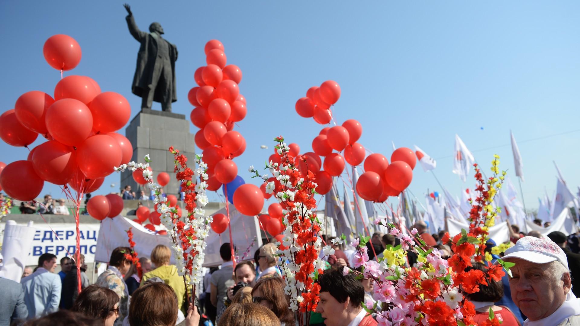 Le défilé du 1er mai à Ekaterinbourg