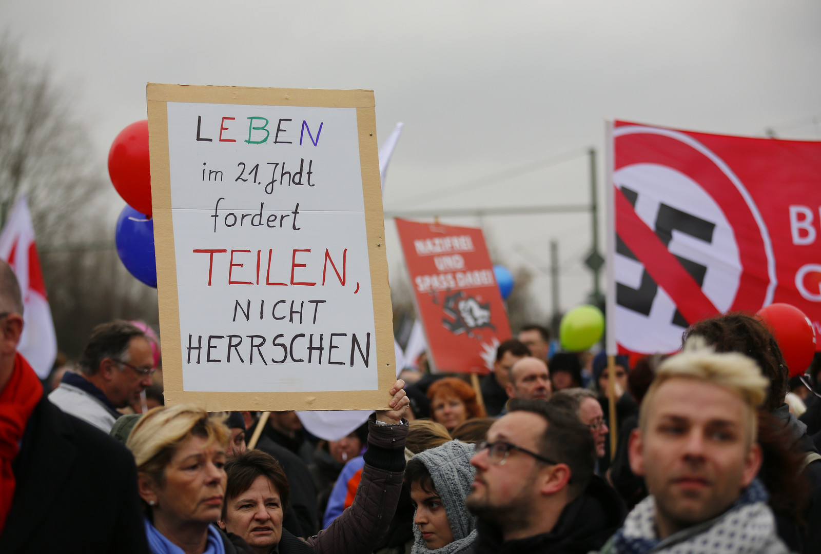 Manifestation antinazie à Berlin