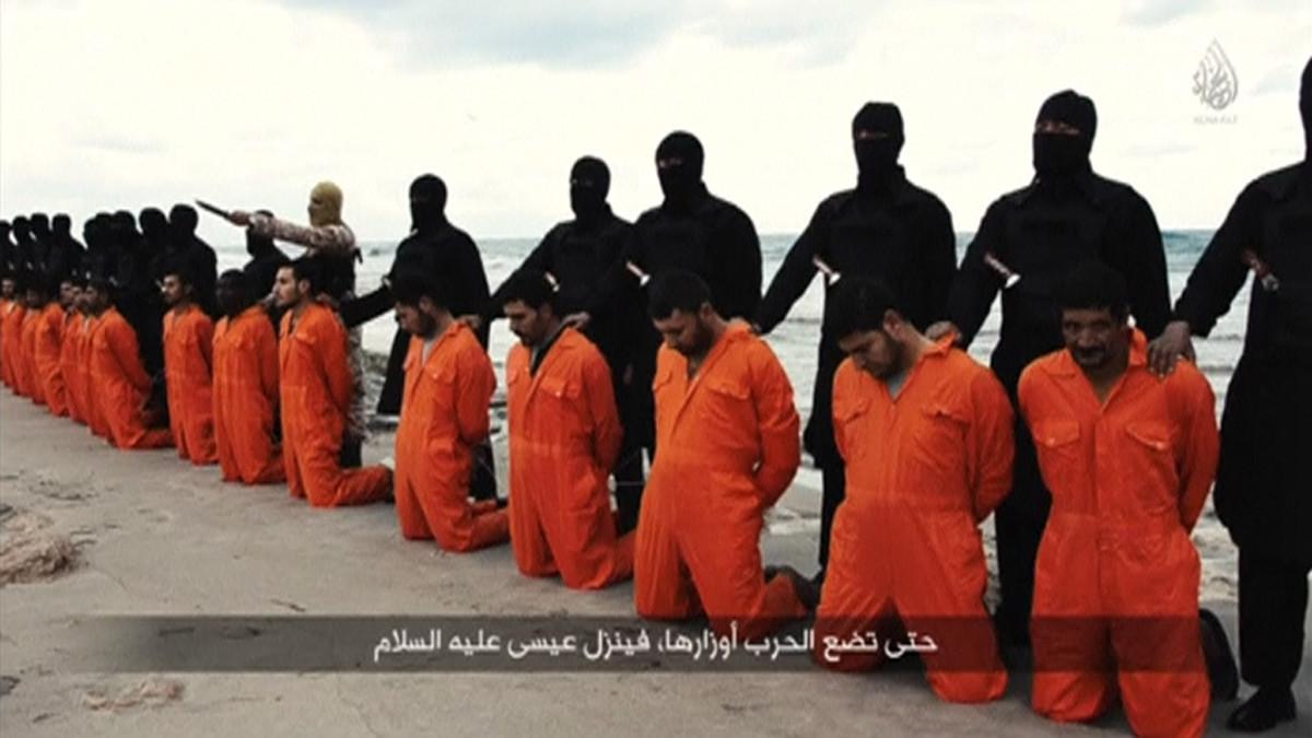 Ler islamistes de Daesh exécutent les otages crétiens