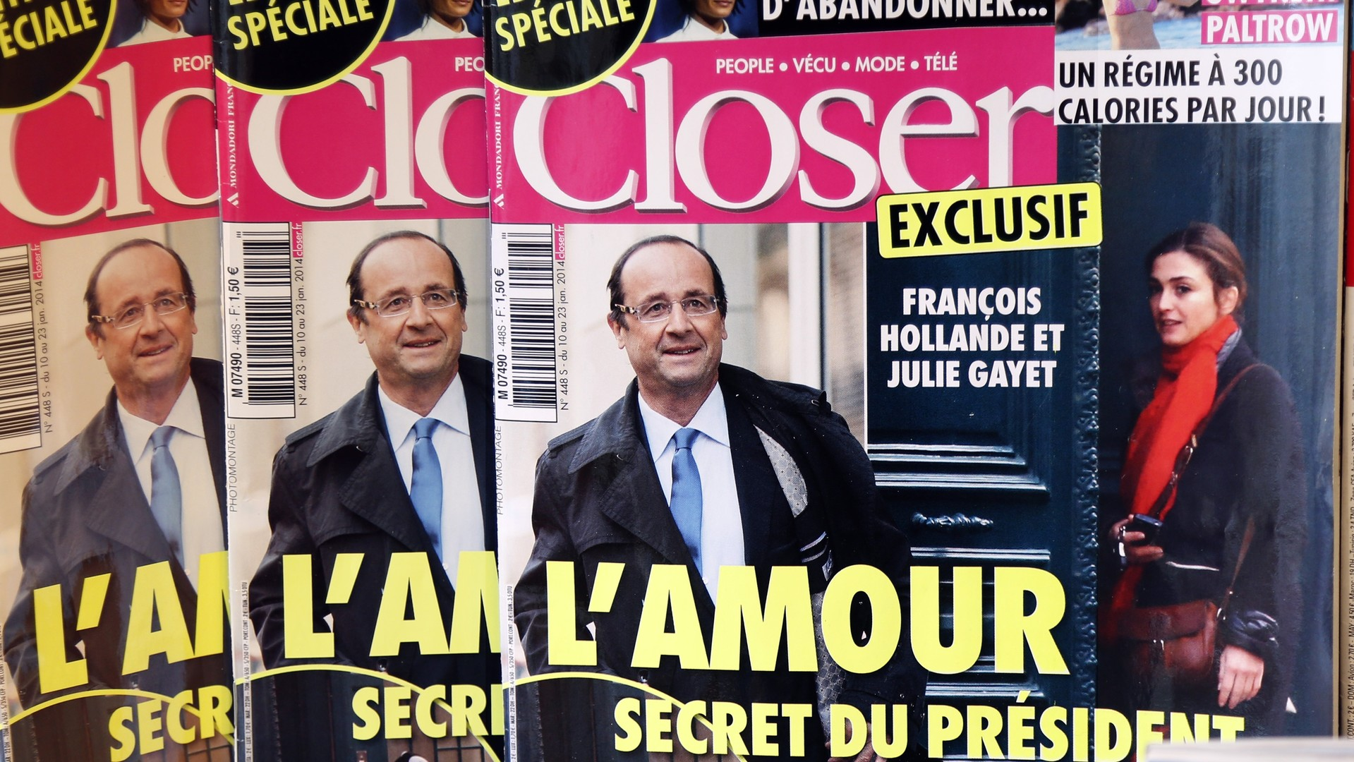 Des couvertures du magazine Closer
