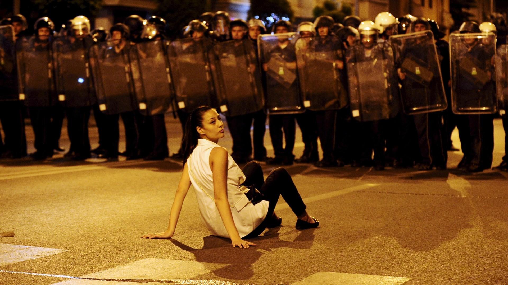 Des émeutes à Skopje