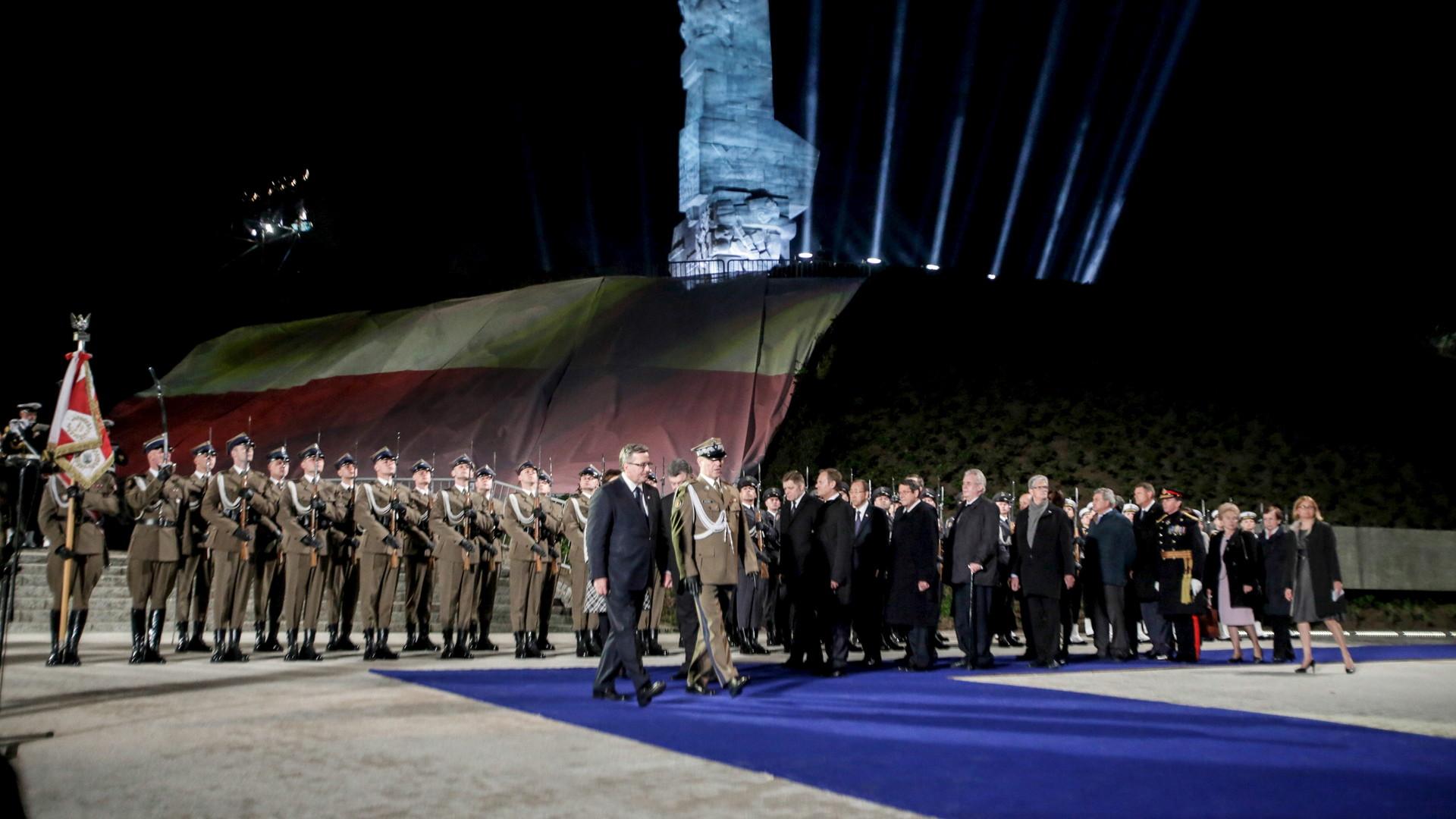 Bronislaw Komorowski à la cérémonie commémorative à Gdansk