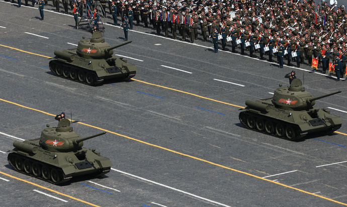 Les chars T-34, un symbole de la victoire russe