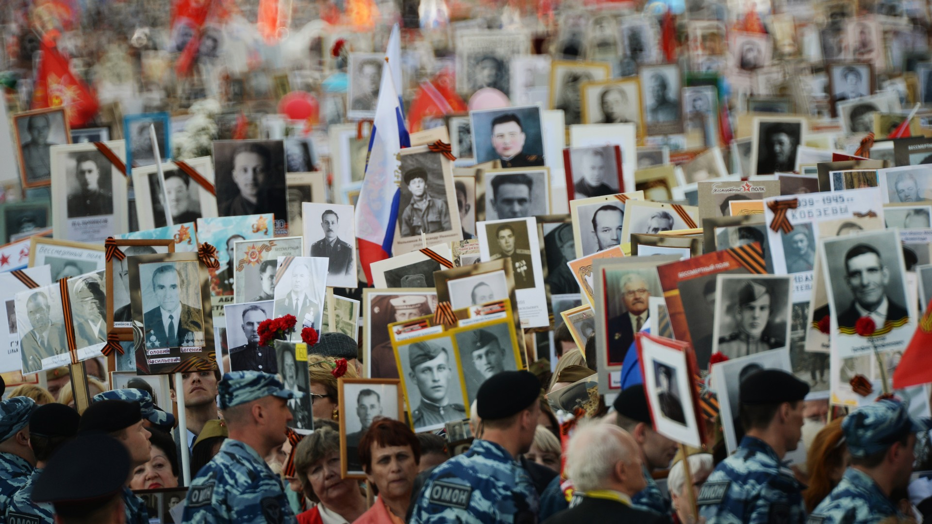 La marche du «Régiment immortel» à Moscou