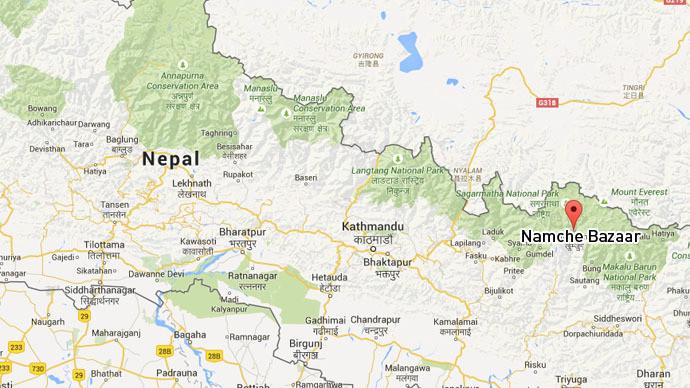 Un nouvel séisme s'est produit à 68 kilomètres de Namche Bazaar