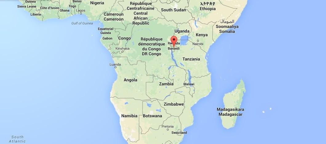 Le Burundi, petit pays d'Afrique, situé dans la région des Grands Lacs