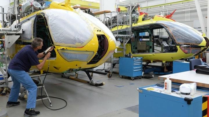 Une société d'assemblage d'hélicoptères Airbus en Allemagne.