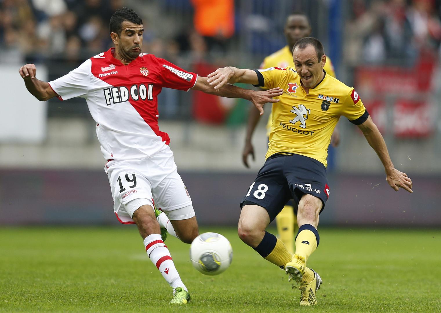 Le FC Sochaux affrontant l'AS Monaco en 2013