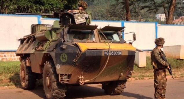 Des soldats français lors de l'opération Sangaris en Centrafrique