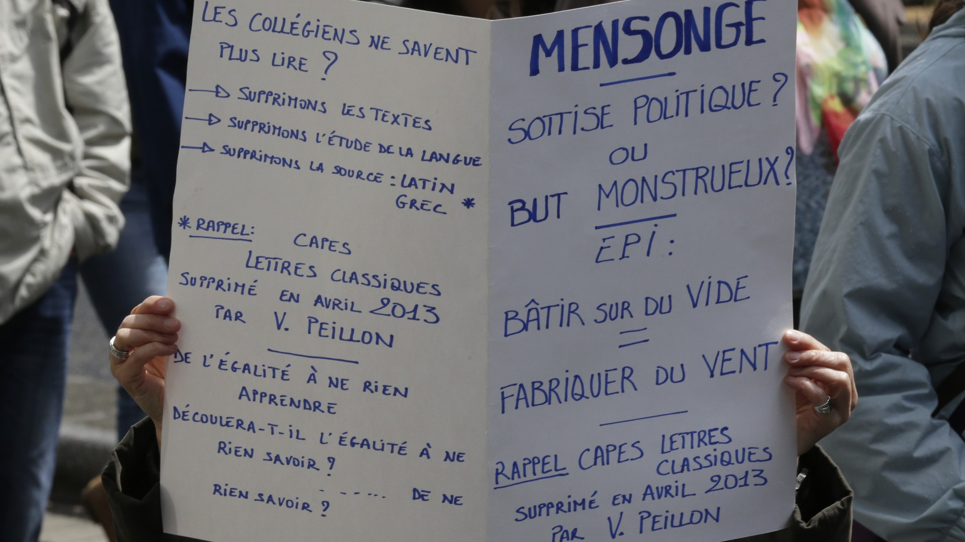La manifestation contre la réforme du collège à Paris, le 19 mai