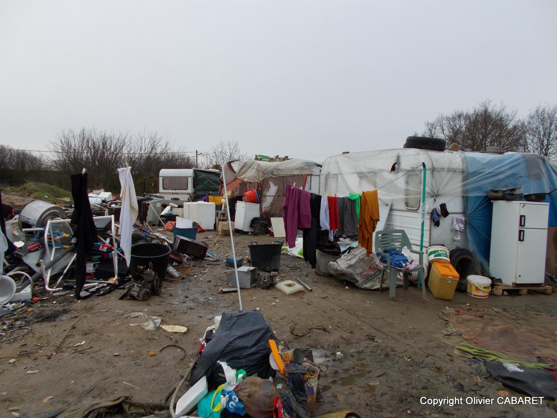 Un campement rom.