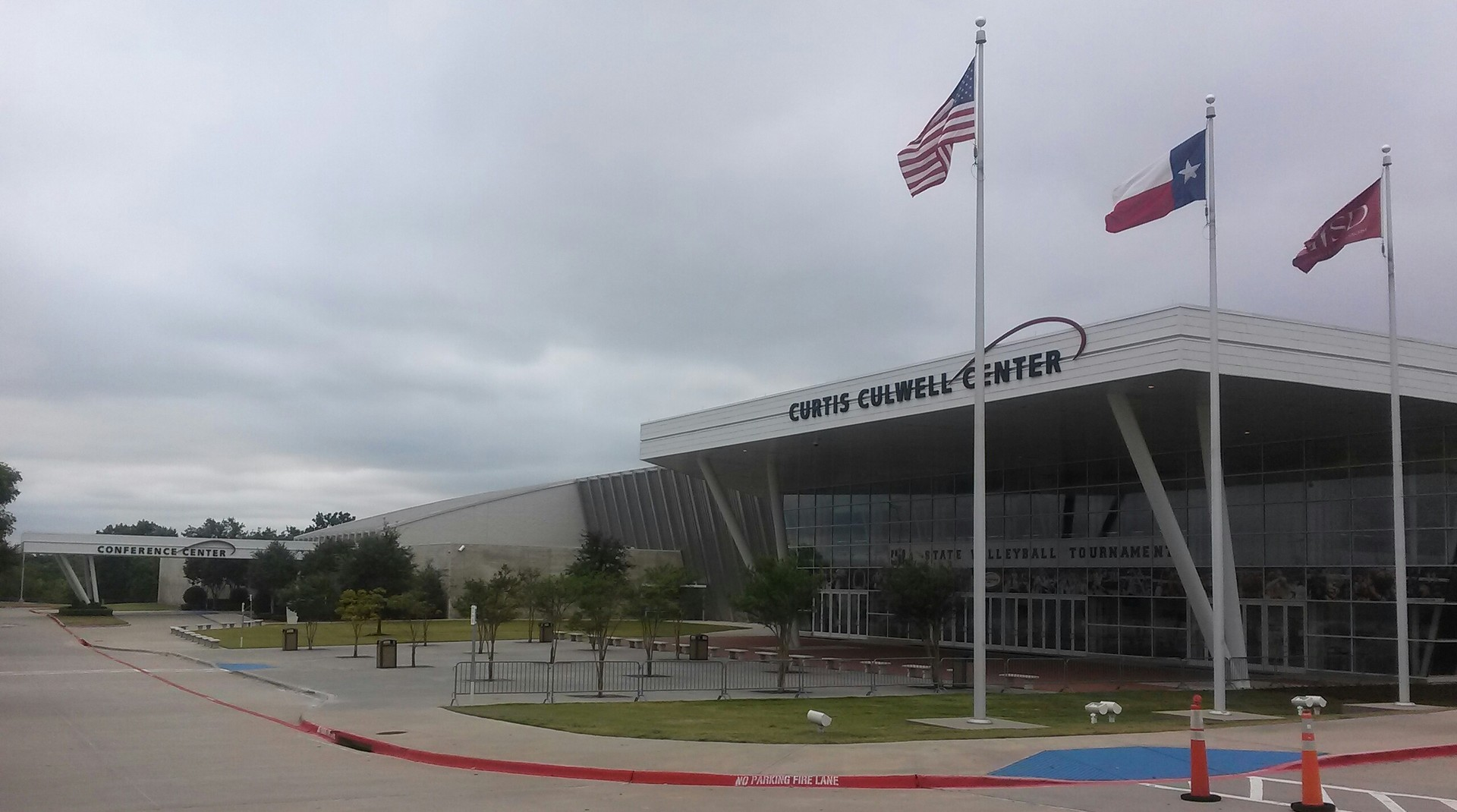Le Curtis Culwell Center à Garland, Texas. Lieu de la fusillade du 3 mai 2015.