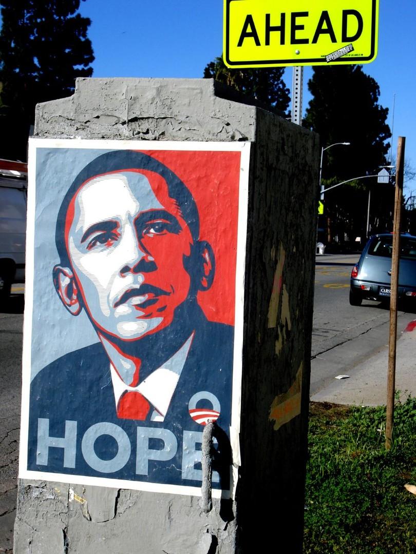 L'affiche était devenue le symbole de l'élection de Barack Obama en 2008