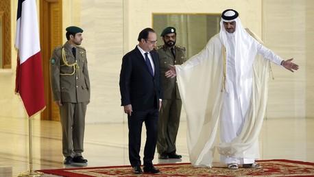 Emir Sheikh Tamim bin Hamad Al-Thani et François Hollande.