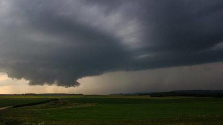 Image prise aux alentours d'Epinal près de Vosges (capture d'écran du compte Facebook de K.Leclercq)