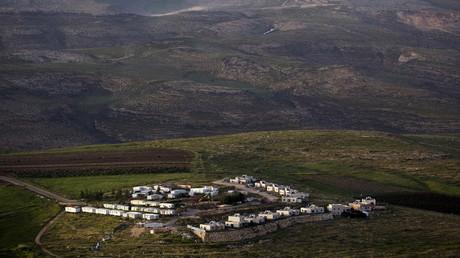 Une colonie israélienne de Kramim dans la Cisjordanie