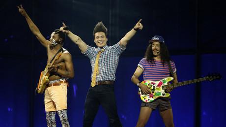 Les Twin Twin lors de l'Eurovision 2014