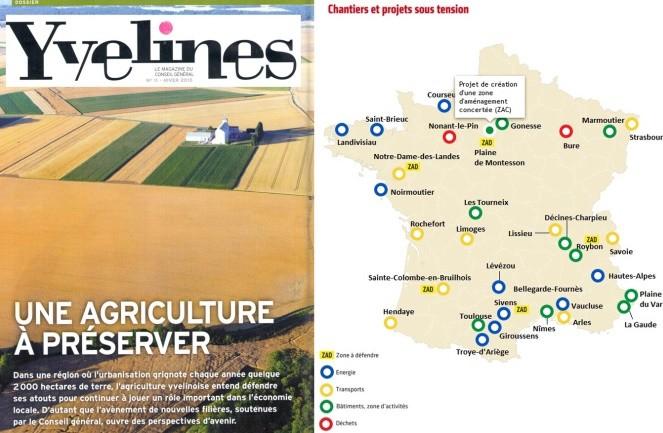 La carte des zones sous tension selon le magazine Yvelines