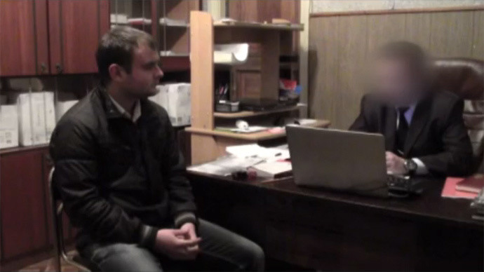 Evgueni Agapov interrogé par la justice russe (capture d'écran)