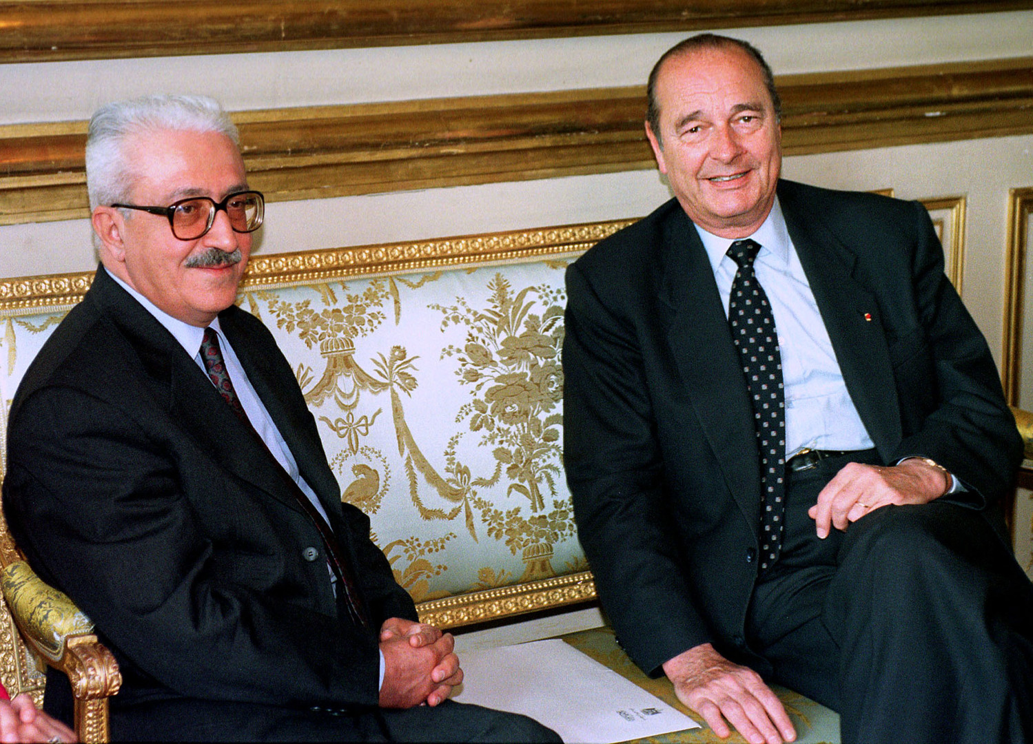 Tarek Aziz avec Jacques Chirac