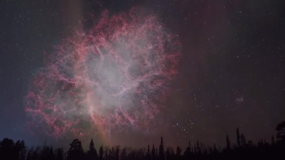 A quoi ressemblerait notre ciel si des objets célestes étaient plus proches de la terre ? (VIDEO)