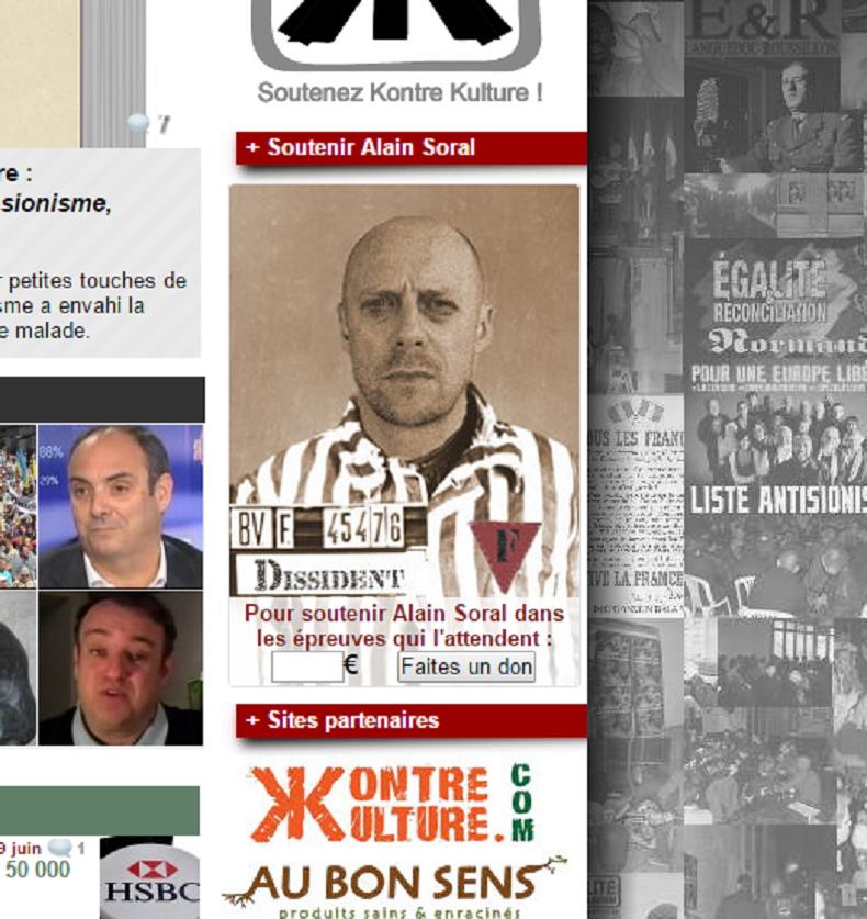 Capture d'écran du site Egalité et Réconciliation, appel aux dons