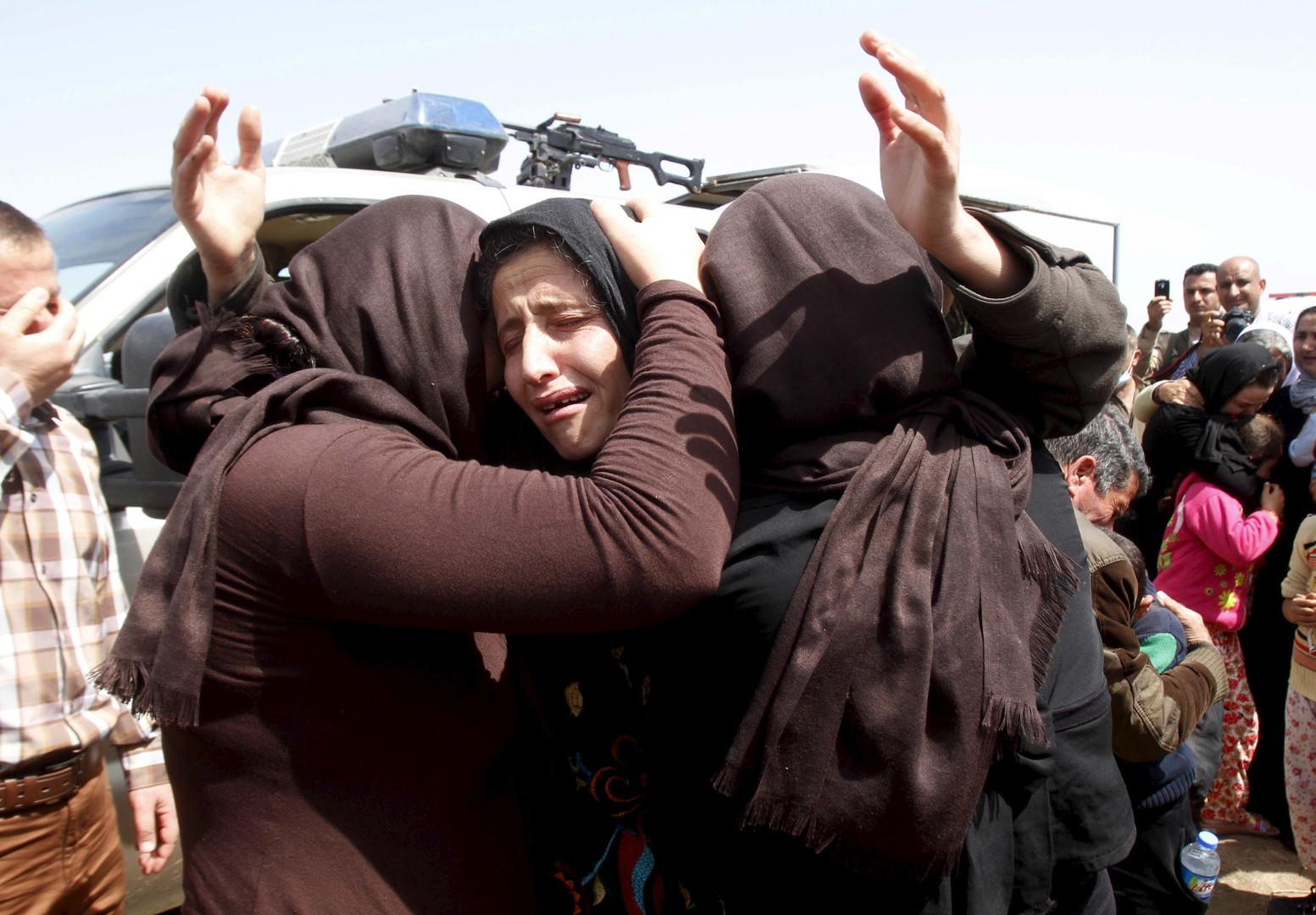 Des membres de la minorité Yazidi tout juste libérés par l'Etat Islamique