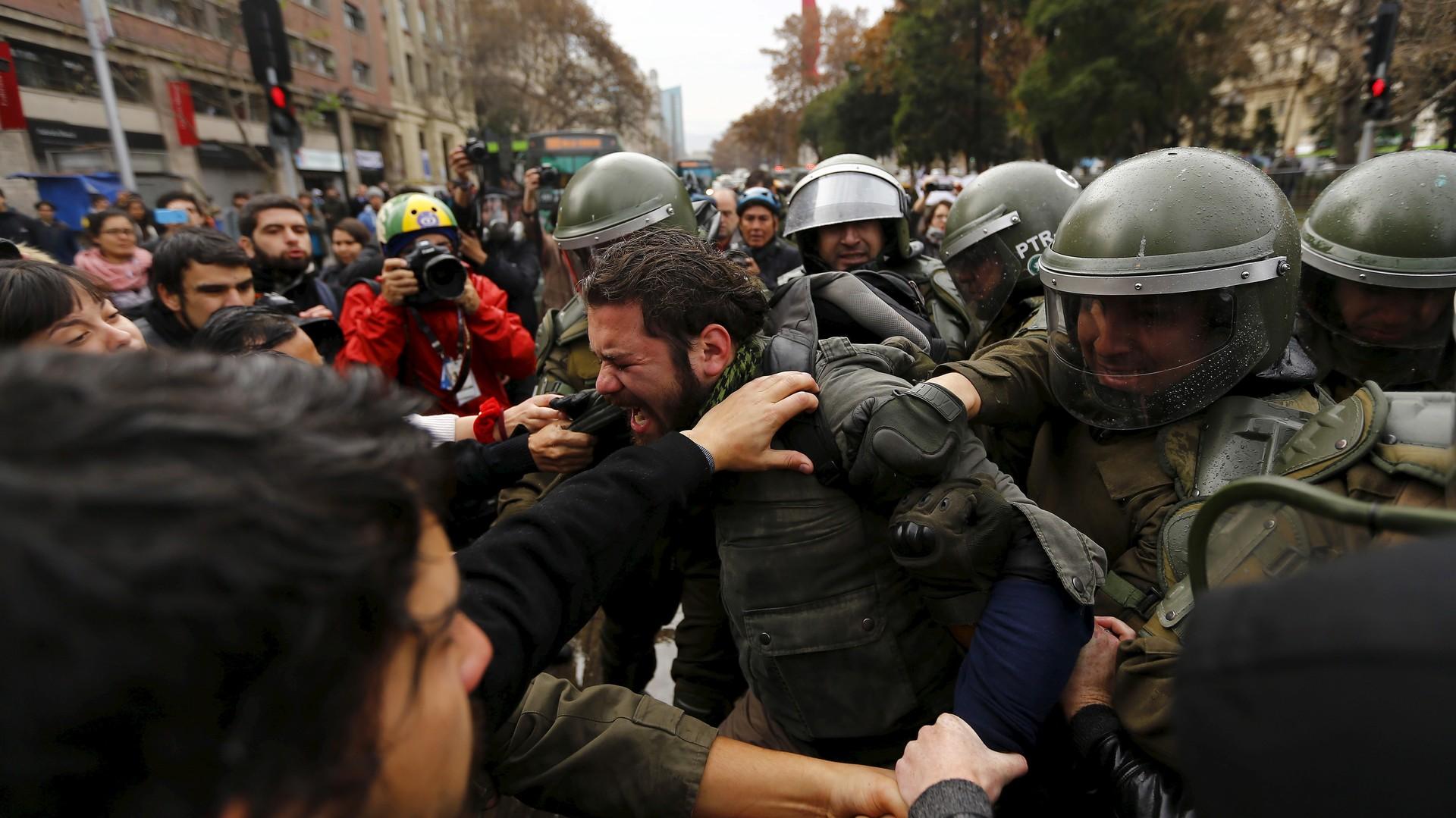 Les manifesations se sont déroulées dans les plusieurs quartiers de Santiago