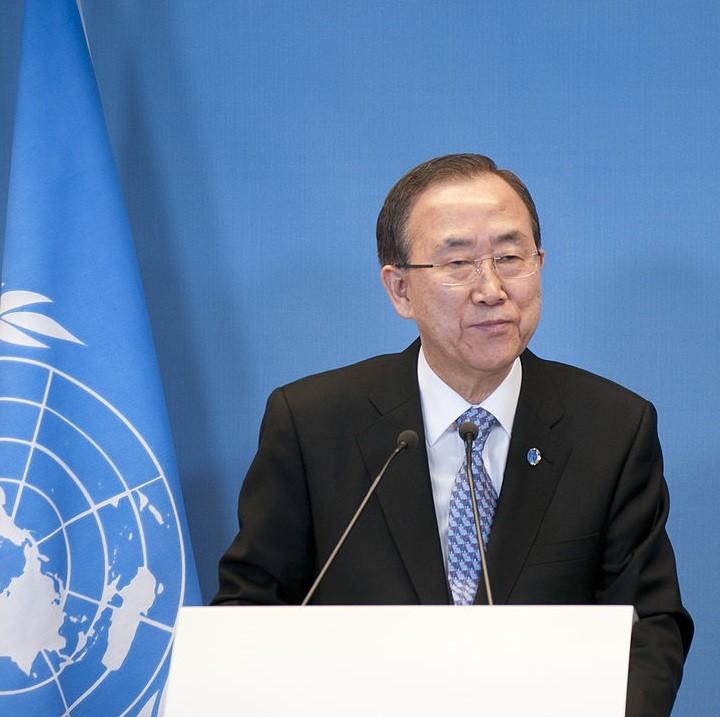 Le secrétaire général de l'ONU Ban Ki Moon