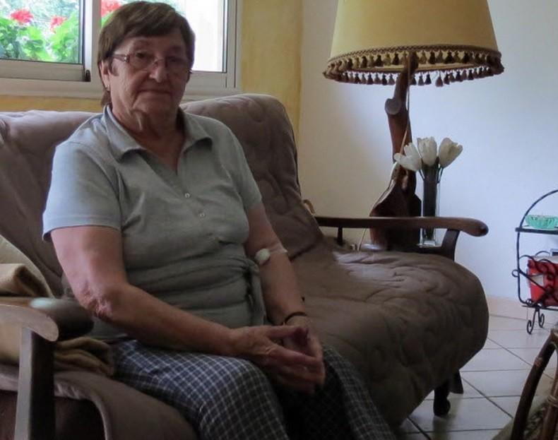 Micheline vit dans sa maison depuis 42 ans.