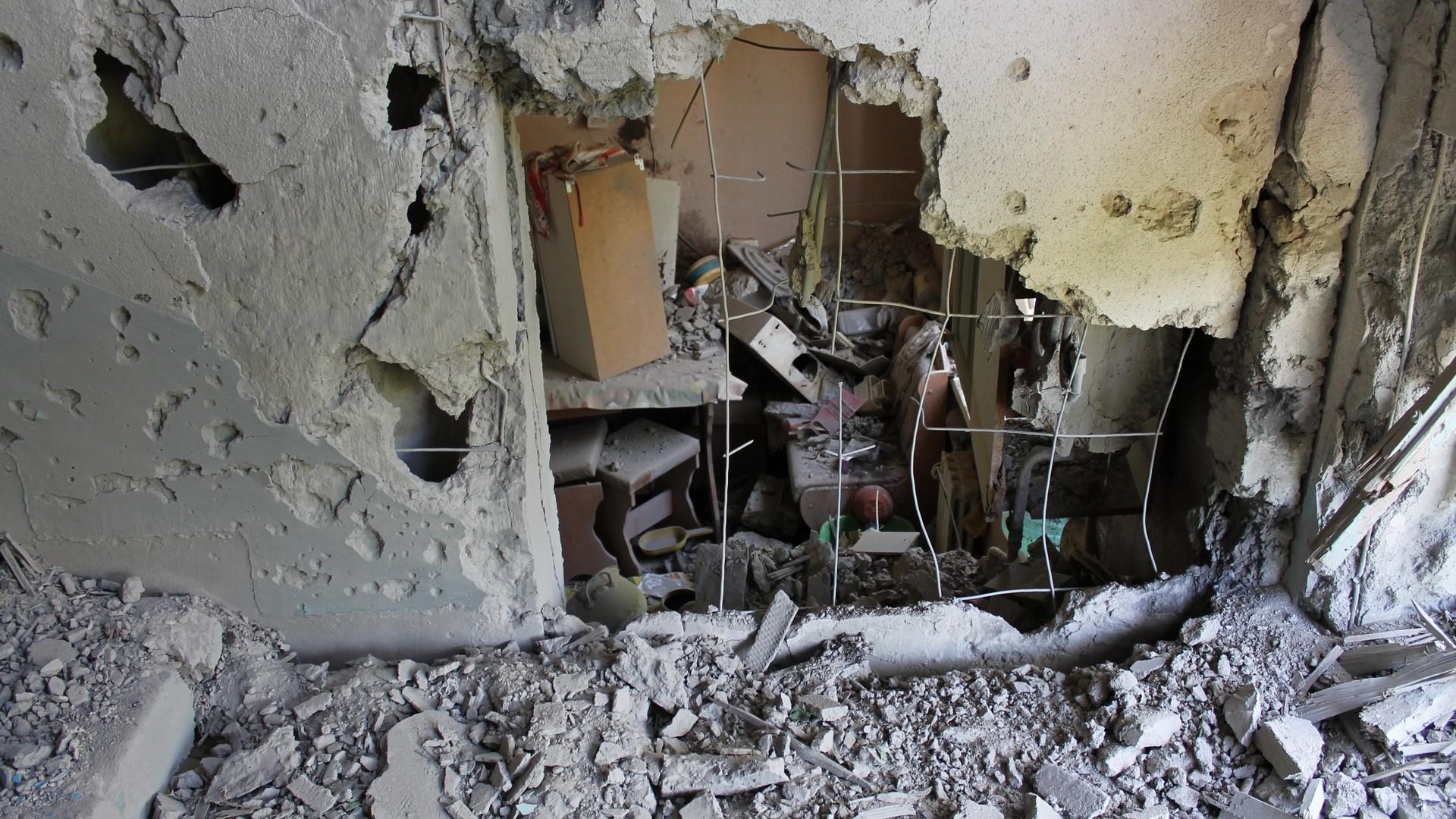 Les destructions à Gorlovka