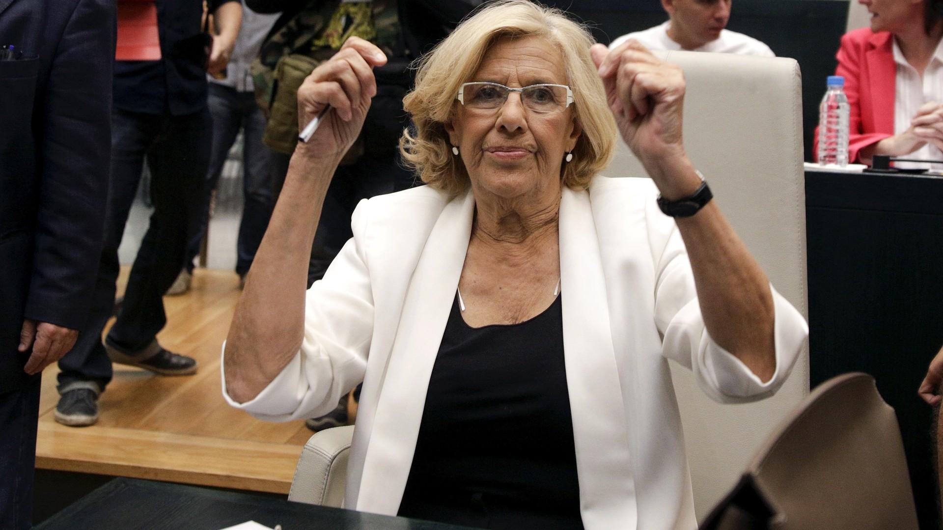 La nouvelle maire de Madrid Manuela Carmena