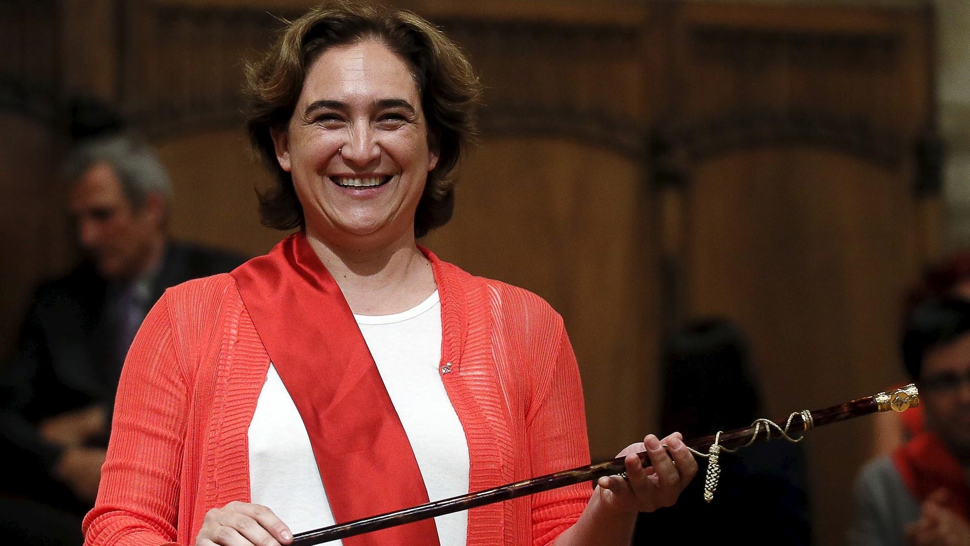 La nouvelle maire de Barcelone Ada Colau