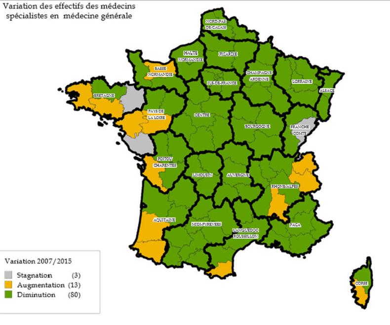 Plus de retraités et moins de généralistes, un paysage médical français en demi-teinte