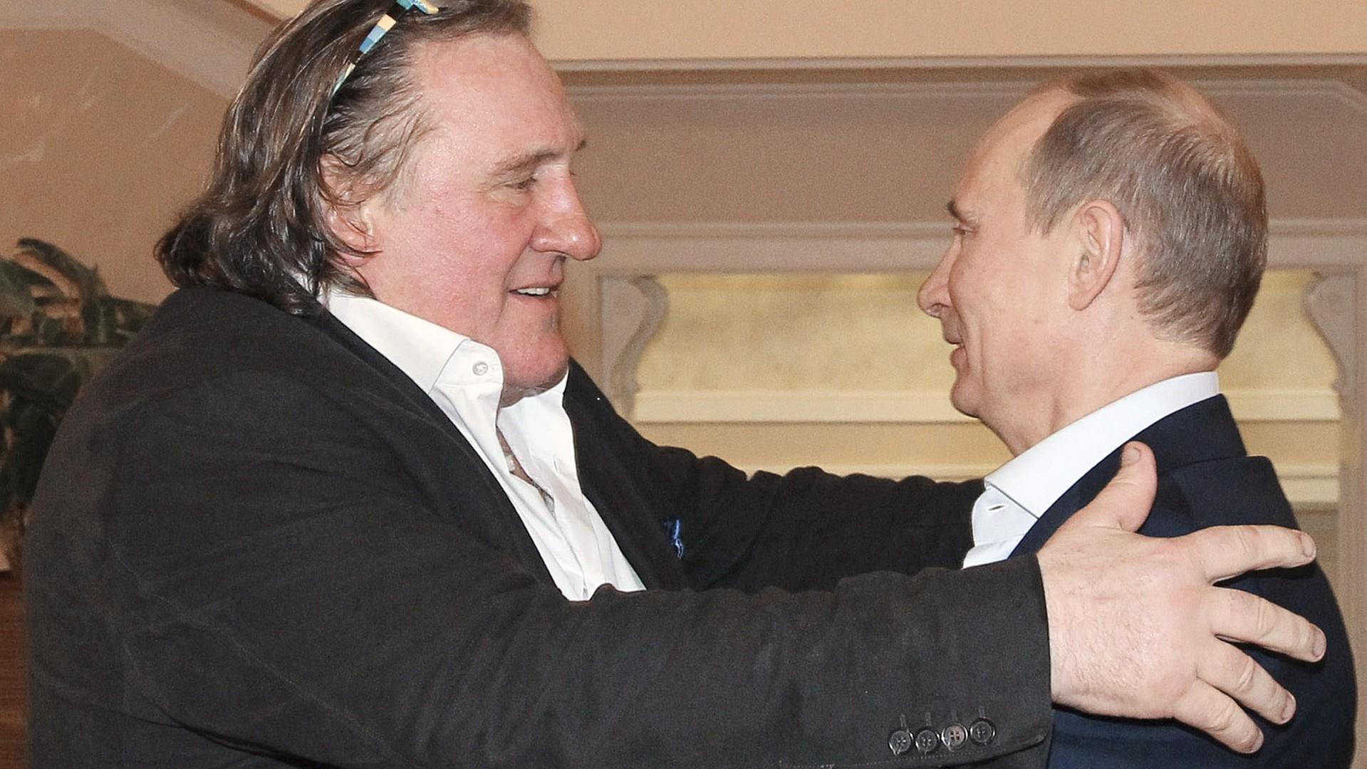 Gérard Depardieu et Vladimir Poutine