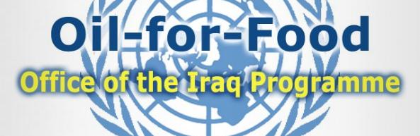 """Logo du Programme """"Pétrole Contre Nourriture"""" des Nations Unies"""