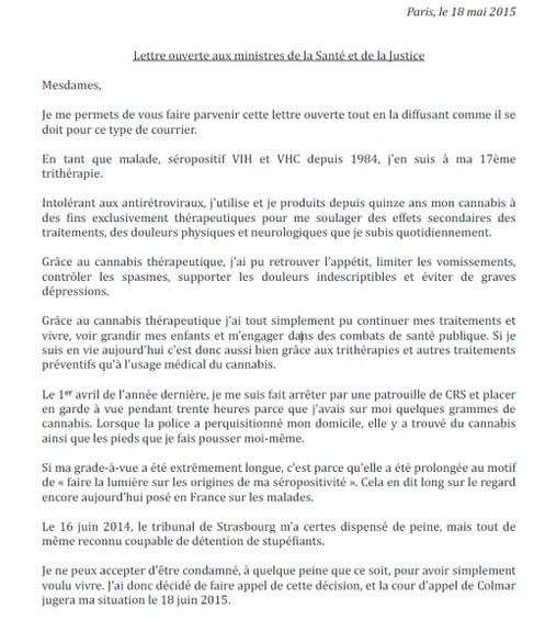 La lettre ouverte de Bertrand Rampaud aux ministres de la santé et de la justice
