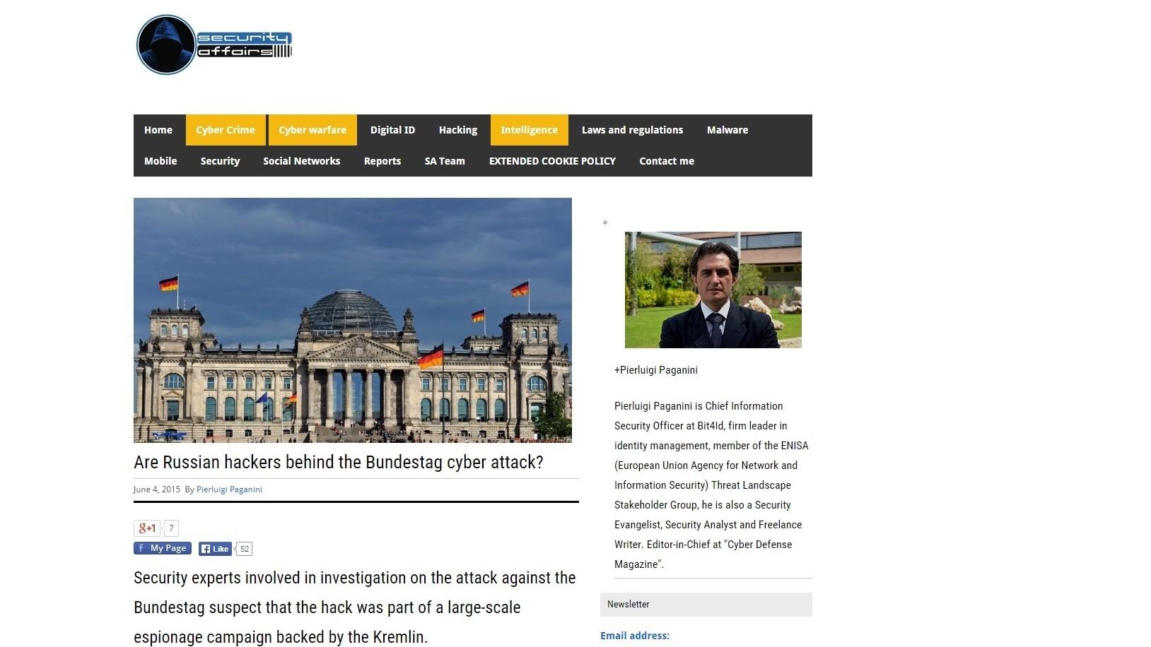 Les hackers russes, sont-ils derrières le cyber-attentat contre le Bundestag ?