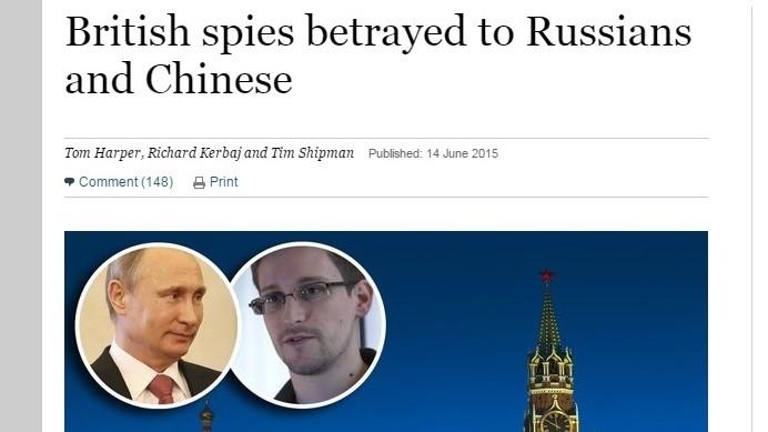 Les espions britanniques trahis par les Russes et les Chinois