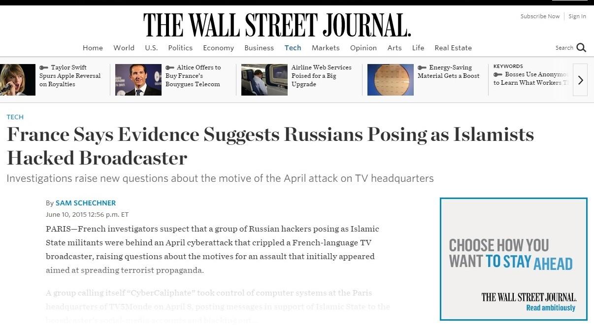 Qui est donc réellement derrière le piratage de TV5 Monde en avril ?