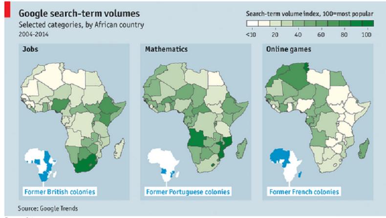 Capture d'écran Google trends, The Economist