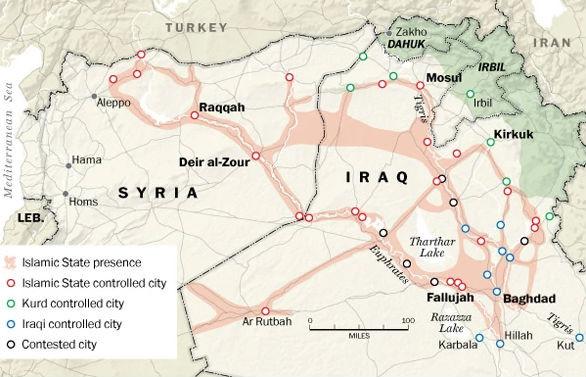 La situation en Irak et Syrie en 2015