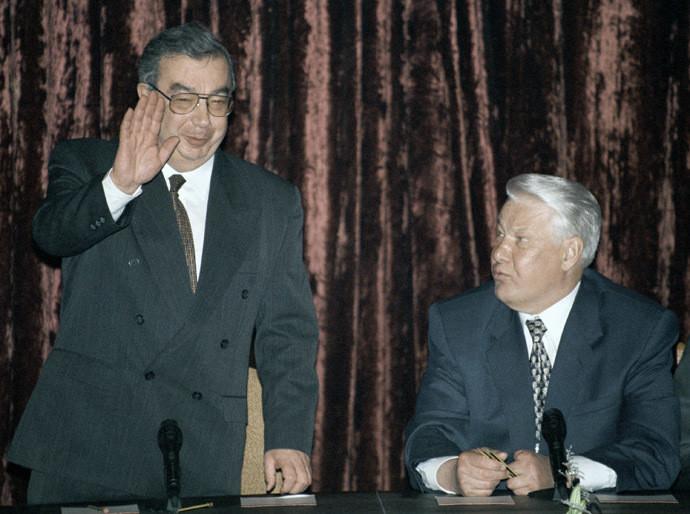 Evgueni Primakov et Boris Eltsine