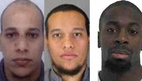 Les frères Kouachi et Amédy Coulibaly